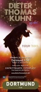 Konzert Ticket von Dieter Thomas Kuhn und Band der Tour 2012 - Foto von Steffen Oliver Riese